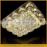 Gold fashion royal style lighting LED crystal ceiling decoration & chandelier with energy saving bulbs