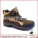 Leaf Camouflage water proof hiking shoes/ safety hiker boots