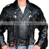 Fringe Motorcycle Riding Leather Jacket, Choppers Fring Leather Jacket