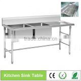 BN-S07 double Sink Kitchen Stainless Steel Sink Work Table,High Quality Stainless Steel Dishwasher Table\/kitchen Sink