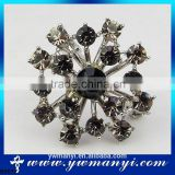 7 colors' Vintage Style Black Rhinestone Crystal Diamante Party Brooch Pins For Women Wedding Bouquet Brooch B0072