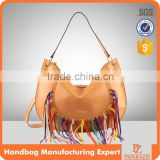 5123 Factory wholesale fringe colorful fashionable ladies handbags latest PU women bag design.