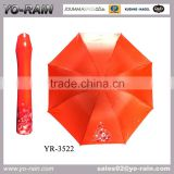 Creative new China wholesale logo printed wine rose bottle umbrella for promotional gifts