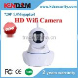 Kendom brand remote control hd wifi ip camera supporting p2p and onvif one touch configuration with panoramic view
