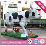 amusement park animatronic life size fiberglass cow sculpture                                                                         Quality Choice