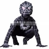 Newest! Black Spiderman Costume Adult Halloween Costumes For Baby Kids Spandex Carnival Cosplay Bodysuit Zentai Spider Man