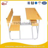 Multifunctional double school desk school desk and chair with Panel school desk and chair set