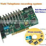 8Ch Telephone recording answering machine V08 PCI card