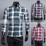 top selling men's long sleeve cotton plaid shirt formal check shirt for men high quality