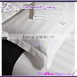 white stripe 250TC Oxford style pillow shams, white stripe pillow shams in 3cm stripe for hotels, motels