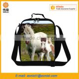 High quality white horse printed fitness cooler lunch bag animal insulated meal package                                                                                                         Supplier's Choice