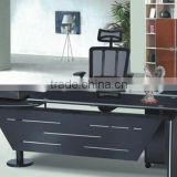 L/s Shaped High Gloss Black Office Desk for Office Furniture