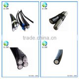 BS standard 0.6/1kV 2/3/4/5 cores twist conductor XLPE insulation aerial bundle cable abc cable