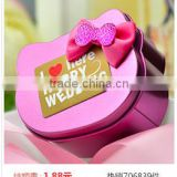 hello kitty cute candy tin box with butterfly tie