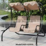 2 seat swing chair hanging benches garden patio swing chair
