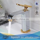 YL84103 Single hole, hot and cold, gold basin mixer(faucet)