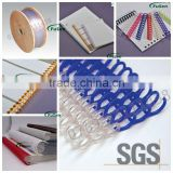 Factory with measured Pitch PVC Plastic Spiral binding material& Single loop wire binding material