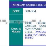 amalgam carrier gold plated double ended, amalgam carriers , dental instruments, dental lab instruments