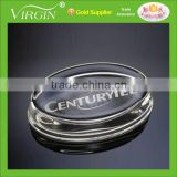 Wholesale New design flat round Blank Optical Glass Plaque Paperweight for office desktop decoration