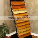 tube Material 12 wire shelves Unique MDF / wood Flooring Display Racks sheet metal tile display