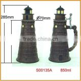 new shape ceramic beer steins with lid beer mug