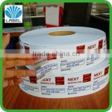 High quality roll transparent pvc labels, outdoor use labels, sunproof and waterproof stickers