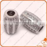 BJ4525 hight quality brass pave diamond beads jewellery, micro zircon charm jewelry,