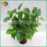 cheap wholesale wall decore plastic plant artificial green leaves plastic artificial green leaves