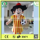 HI CE hot sale high quality used boy mascot costume with football for sale