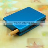 Hot selling automatic metal cigarette case/customized cigarette holder/wholesale cigar box for promotional