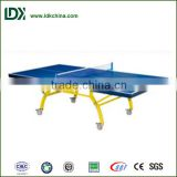 Outdoor single folding ping pong table / table tennis tables