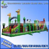 New tunnel challenge inflatable obstacle course for sale, inflatable children's obstacle course