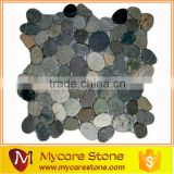 Kuala Batik blue 12''x12'' natural stone pebble mesh-mounted mosaic tile