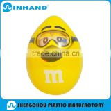 Custom Promotional Inflatable model, inflatable replica balloon, advertising pvc inflatable yellow egg ewith smile