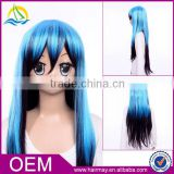 Quality wig cosply for long straight wig cosplay two tone color