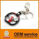 zinc alloy auto wheel car logo key chain