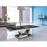 Modern metal marble center coffee table