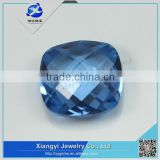 2015 hot items unique cushion shape lab created blue spinel beads for jewelry