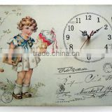 Baby girls cheap wall clock wholesale