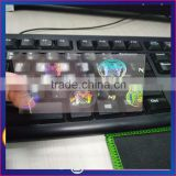 Professional Hot stamping colorful NJ state transparent overlay hologram sticker in stock