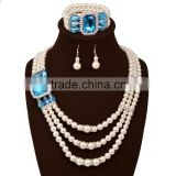 Factory directly wholesale pearl necklace bracelet earring jewelry set