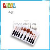 10pcs/set Tooth Brush Shape Oval Makeup Brush Set MULTIPURPOSE Professional Foundation Powder Brush Kits with Box