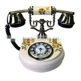 Handmade decor with wooden antique telephone