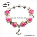 Fashion European Bracelet Charm Silver Plating Fit Snake Chain Bulk Snake Chain Bracelet From China