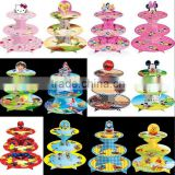 3 tier cardboard cupcake stand Cupcake Holder Display Stand Birthday Boy Blue Girls Pink Party Supplies for birthday