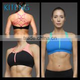 Women SportsBra sexy hot girl yoga bra with crisscross straps in the front and web cross on the back Office In Unite State (USA)