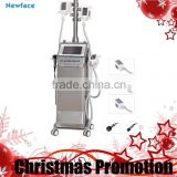 Christmas promotion 5 handles cool tech cryolipolisis fat cellulite removal cryotherapy machine with RF and photon