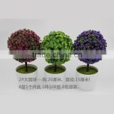 Simulation Artificial Flower Sakura Snow Tree Mini Bonsai Desktop Green Plant Home Decor