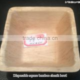 Disposable square bamboo bowl plate tray