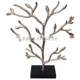New design recycled aluminium tree gift item Indian handicraft home decoration jewelry stand